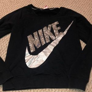 Black Nike Sequin Pullover, size Small
